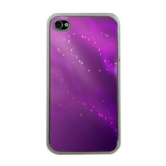 Space Star Planet Galaxy Purple Apple Iphone 4 Case (clear) by Mariart