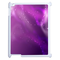 Space Star Planet Galaxy Purple Apple Ipad 2 Case (white) by Mariart