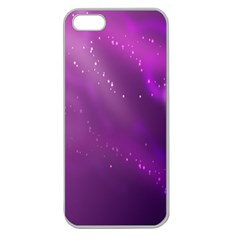 Space Star Planet Galaxy Purple Apple Seamless Iphone 5 Case (clear) by Mariart