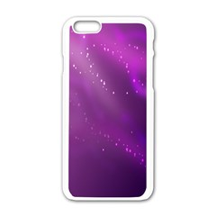 Space Star Planet Galaxy Purple Apple Iphone 6/6s White Enamel Case by Mariart