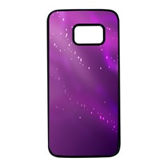Space Star Planet Galaxy Purple Samsung Galaxy S7 Black Seamless Case by Mariart