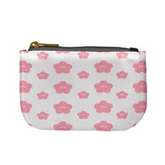 Star Pink Flower Polka Dots Mini Coin Purses by Mariart