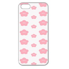 Star Pink Flower Polka Dots Apple Seamless Iphone 5 Case (clear) by Mariart