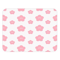 Star Pink Flower Polka Dots Double Sided Flano Blanket (large)  by Mariart