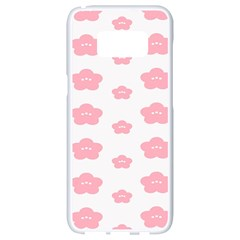 Star Pink Flower Polka Dots Samsung Galaxy S8 White Seamless Case by Mariart