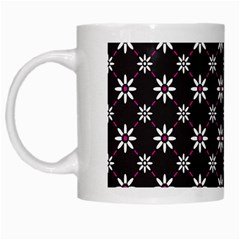 Sunflower Star Floral Purple Pink White Mugs by Mariart