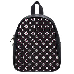 Sunflower Star Floral Purple Pink School Bag (small)