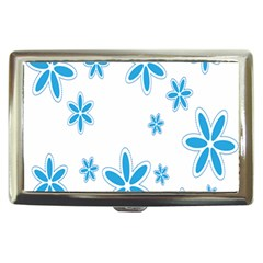 Star Flower Blue Cigarette Money Cases