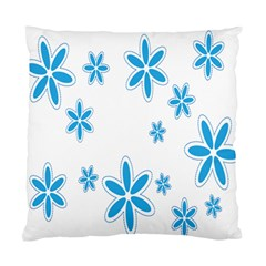 Star Flower Blue Standard Cushion Case (two Sides) by Mariart