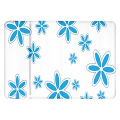 Star Flower Blue Samsung Galaxy Tab 8 9  P7300 Flip Case by Mariart