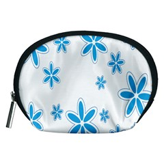 Star Flower Blue Accessory Pouches (medium)  by Mariart