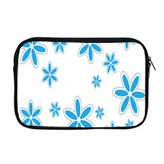 Star Flower Blue Apple Macbook Pro 17  Zipper Case