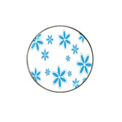 Star Flower Blue Hat Clip Ball Marker by Mariart