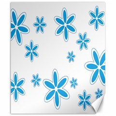 Star Flower Blue Canvas 20  X 24   by Mariart