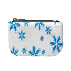 Star Flower Blue Mini Coin Purses by Mariart