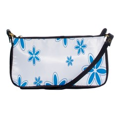 Star Flower Blue Shoulder Clutch Bags by Mariart