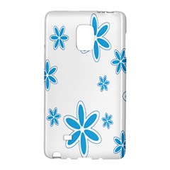 Star Flower Blue Galaxy Note Edge by Mariart