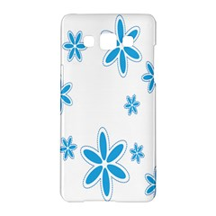 Star Flower Blue Samsung Galaxy A5 Hardshell Case  by Mariart