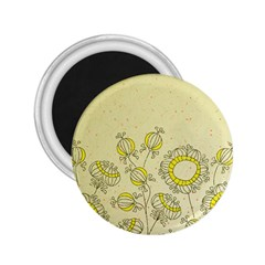 Sunflower Fly Flower Floral 2 25  Magnets