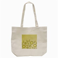 Sunflower Fly Flower Floral Tote Bag (cream) by Mariart