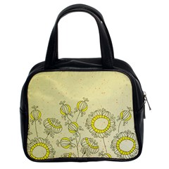 Sunflower Fly Flower Floral Classic Handbags (2 Sides) by Mariart