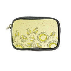 Sunflower Fly Flower Floral Coin Purse