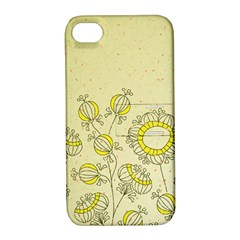 Sunflower Fly Flower Floral Apple Iphone 4/4s Hardshell Case With Stand by Mariart