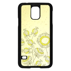 Sunflower Fly Flower Floral Samsung Galaxy S5 Case (black) by Mariart