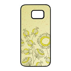 Sunflower Fly Flower Floral Samsung Galaxy S7 Edge Black Seamless Case