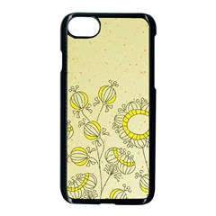 Sunflower Fly Flower Floral Apple Iphone 7 Seamless Case (black) by Mariart