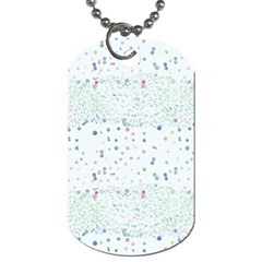 Spot Polka Dots Blue Pink Sexy Dog Tag (two Sides) by Mariart