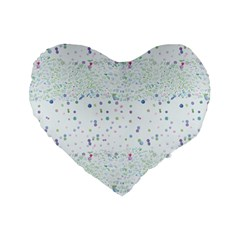 Spot Polka Dots Blue Pink Sexy Standard 16  Premium Flano Heart Shape Cushions by Mariart
