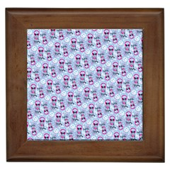 Pattern Kitty Headphones  Framed Tiles by iCreate