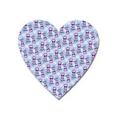 Pattern Kitty Headphones  Heart Magnet by iCreate
