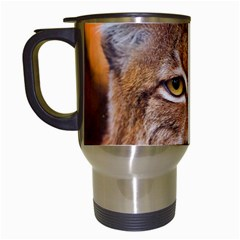Tiger Beetle Lion Tiger Animals Travel Mugs (white) by Mariart