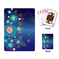 Flower Blue Floral Sunflower Star Polka Dots Sexy Playing Card