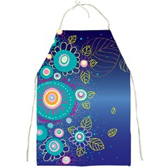Flower Blue Floral Sunflower Star Polka Dots Sexy Full Print Aprons