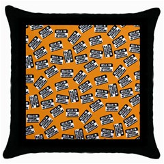 Pattern Halloween  Throw Pillow Case (black) by iCreate