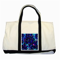 Dark Neon Stuff Blue Red Black Rainbow Light Two Tone Tote Bag by Mariart