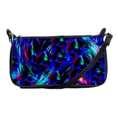 Dark Neon Stuff Blue Red Black Rainbow Light Shoulder Clutch Bags by Mariart