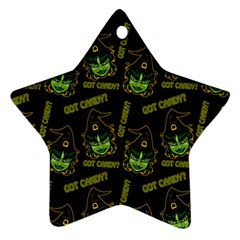 Pattern Halloween Witch Got Candy? Icreate Ornament (star) by iCreate