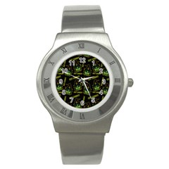 Pattern Halloween Witch Got Candy? Icreate Stainless Steel Watch by iCreate