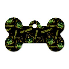 Pattern Halloween Witch Got Candy? Icreate Dog Tag Bone (one Side) by iCreate