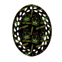 Pattern Halloween Witch Got Candy? Icreate Oval Filigree Ornament (two Sides) by iCreate