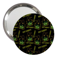 Pattern Halloween Witch Got Candy? Icreate 3  Handbag Mirrors by iCreate