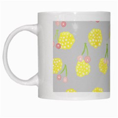 Cute Fruit Cerry Yellow Green Pink White Mugs by Mariart