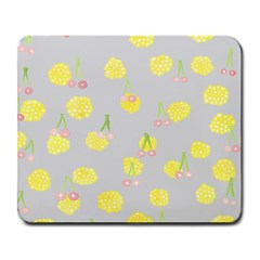 Cute Fruit Cerry Yellow Green Pink Large Mousepads by Mariart