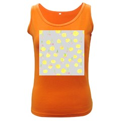Cute Fruit Cerry Yellow Green Pink Women s Dark Tank Top