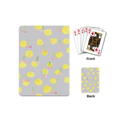 Cute Fruit Cerry Yellow Green Pink Playing Cards (mini)  by Mariart