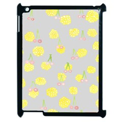 Cute Fruit Cerry Yellow Green Pink Apple Ipad 2 Case (black)